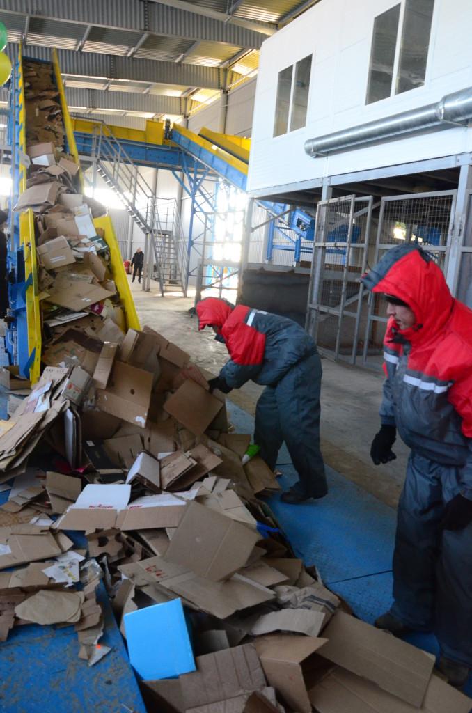 Начал свою работу первый в области мусоросортировочный завод