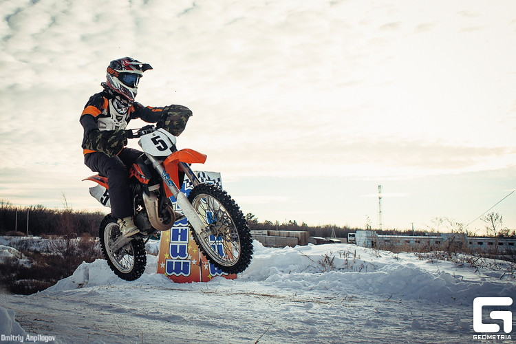 Зимний мотокросс в Оренбурге 06