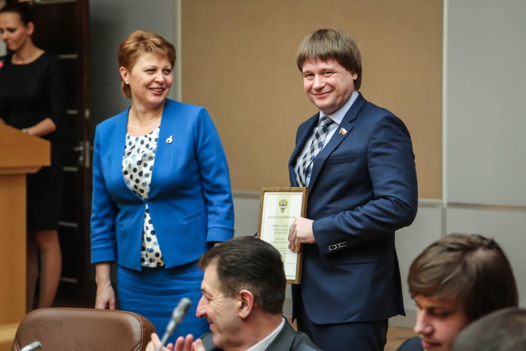 Вручение благодарственного письма от Министра транспорта РФ  2