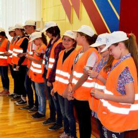 Торжественное закрытие первого потока трудового детского лагеря